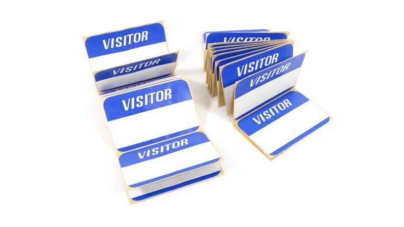 Vintage Visitor Name Badges Name Tags Sticky Labels Scrapbooking