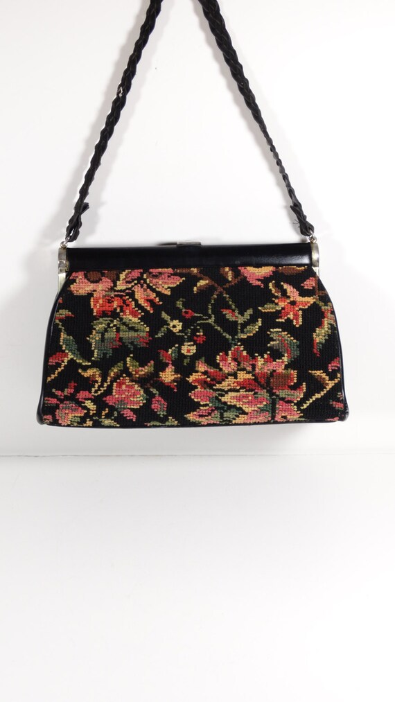 Vintage JR Florida Tapestry Purse, 1960s Handbag
