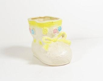 Vintage Baby Bootie Planter - Japan