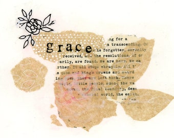 grace.  Original Collage by Jeana Perkins