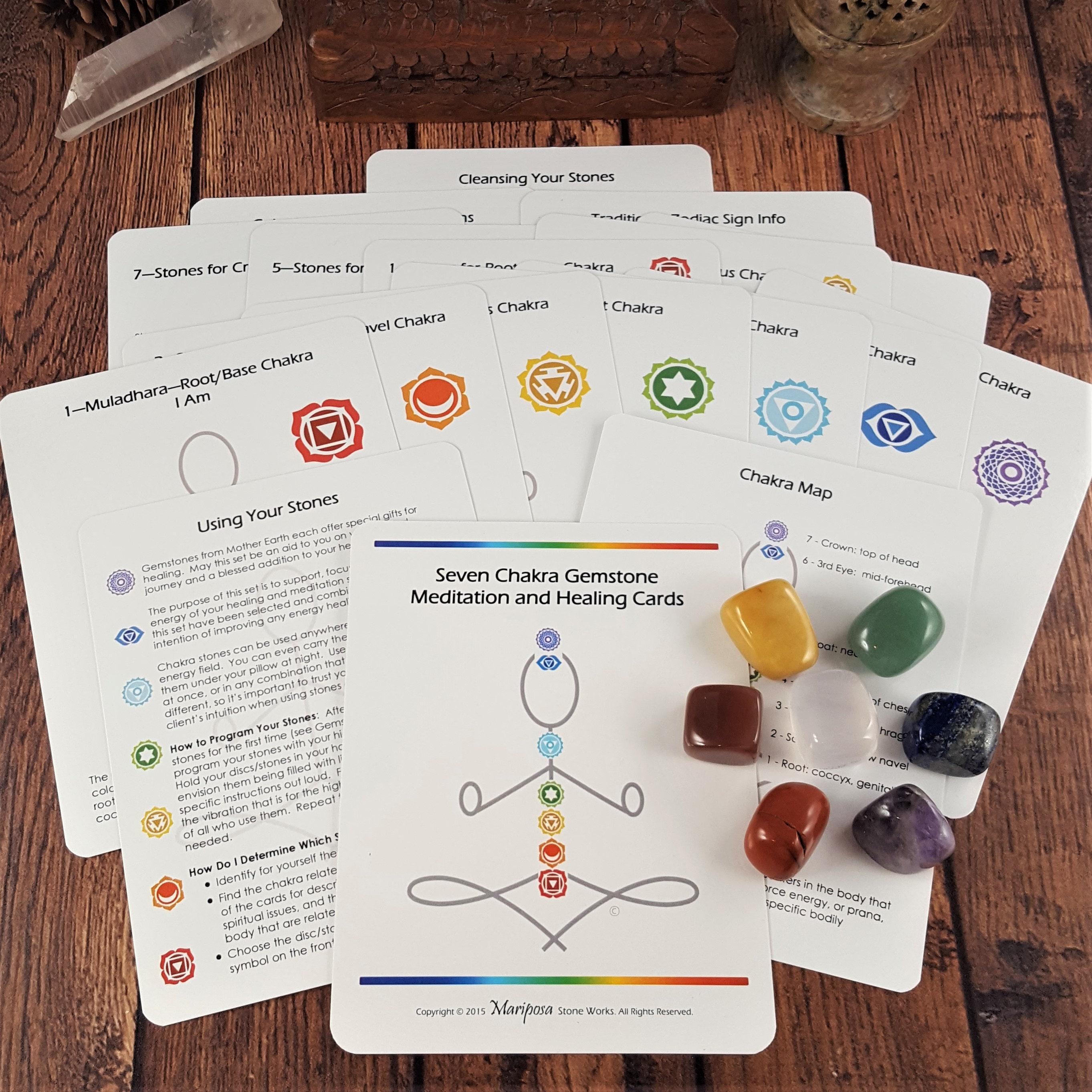 Reiki Meditation Seven, Gift 7 Chakra Tumbled Stone Bracelet 8+1 Extention Chain
