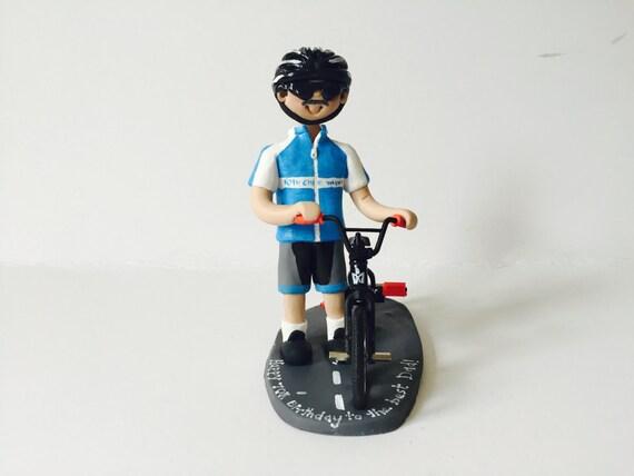 Verjaardag Man Fietser.Biker Fietser Verjaardag Taart Topper Man Met Fiets Cyclus Verjaardag Cake Topper