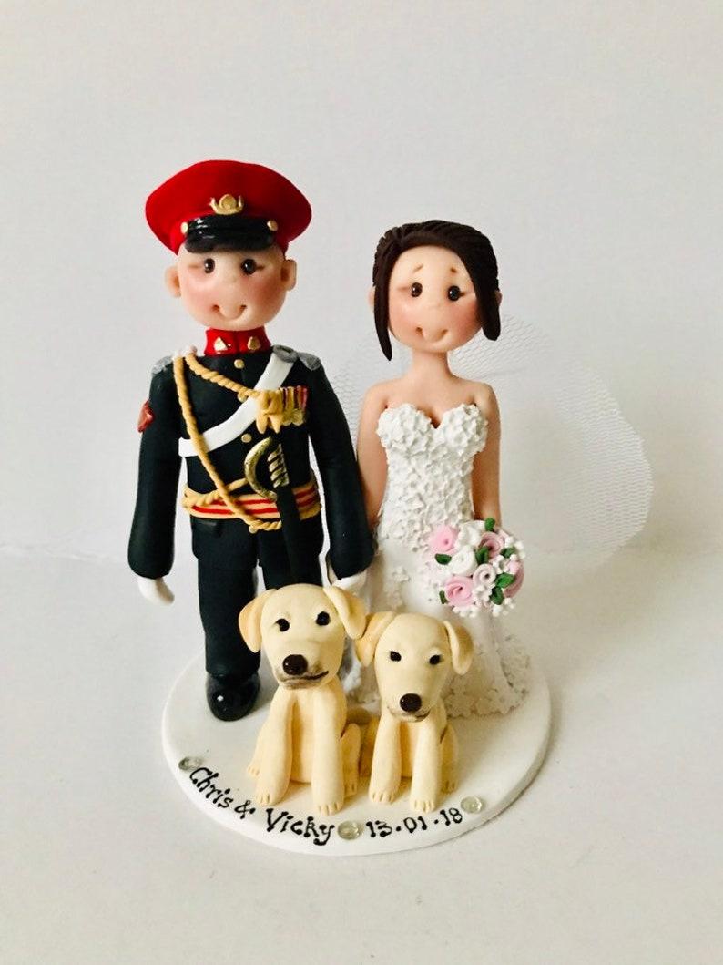 Personalised Army groom and Bride wedding cake topper - Custom made wedding  cake topper keepsake gift
