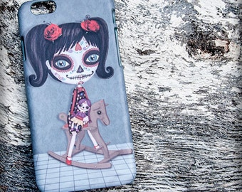 NIÑA KATRINA iphone 3D case 7/7S  6/6S illustration original gothic steampunk méxico dead's day sugar skull