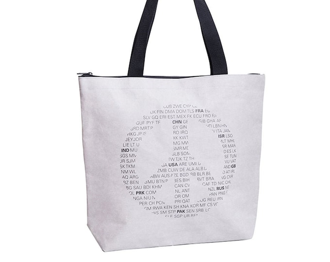 "Jute bag ""Ick bin ne Jute"" PEACE symbol in vegan leather"