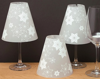 THE STERNENHELENE - 3 wine glass lampshades