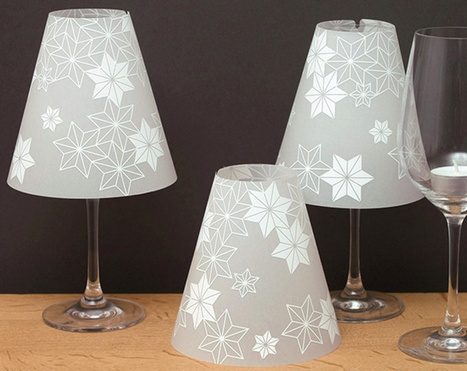 THE STERNENHELENE-3 wine glass lampshades