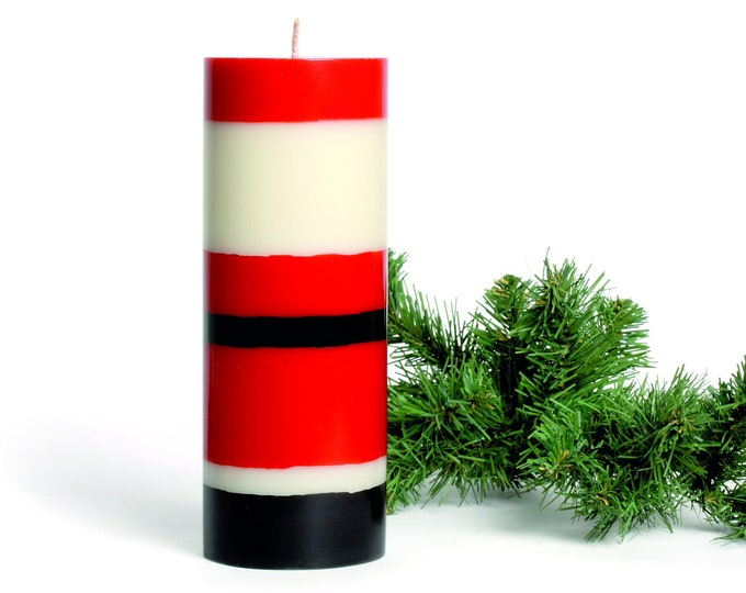 Thick Santa Claus Candle · as a gift for Christmas + St. Nicholas · fair-trade candle, hand-cast, vegan