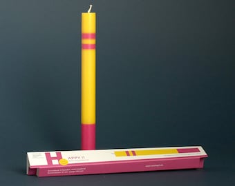 HAPPY GRUSSKERZE as a greeting gift or little attention to the birthday fair-trade candle, hand cast, vegan