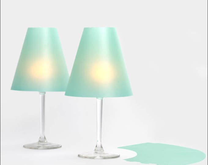 The tender Helene-3 wine glass lampshades made of transparent paper