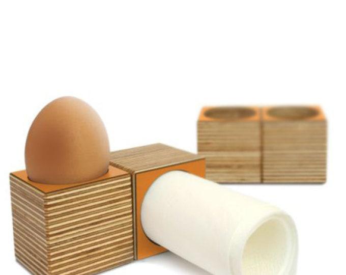 """4 """"eicube"""" egg cups/napkin Holder Orange"""