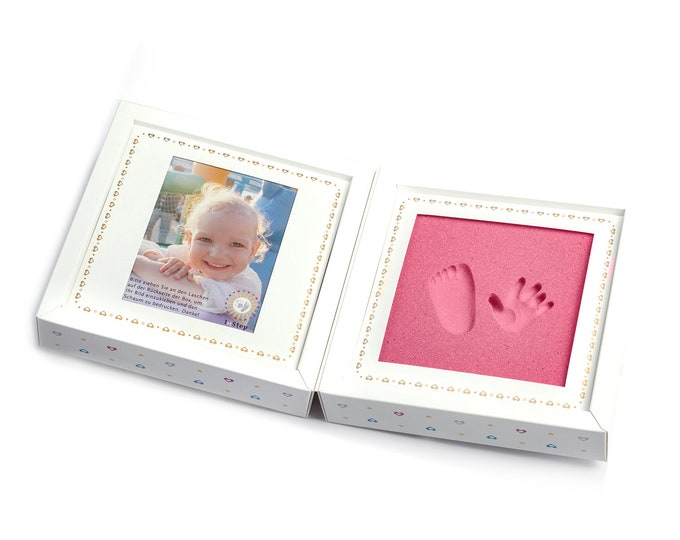 Babyprint kit · foldable box with picture frame