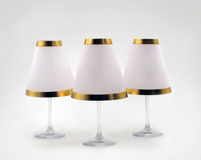 Wine Glass Lampshades · With Gold Rim · 3 pcs.