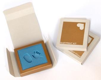 BABYPRINT Kit · Baby keepsake footprint kit · just press foot into foam, that's it! (no clay, no mess)