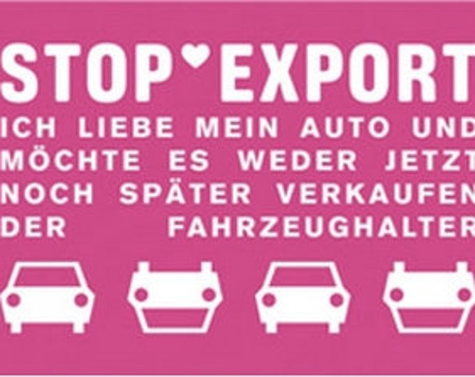 Stop Export-bumper sticker