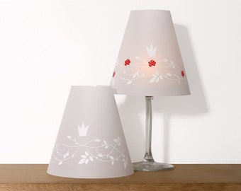 FAIRYTALE HELENE 2 wine glass lampshades
