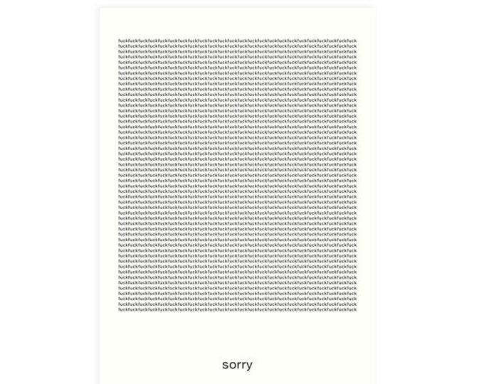 "Postcard ""SORRY"" the original apology as a greeting card Folding card, front printed, A6"