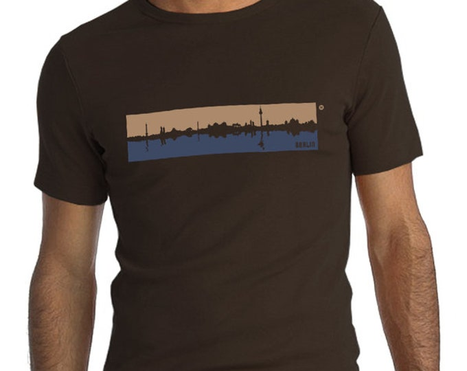Berlin spree Skyline T-shirt unisex/Fair wear