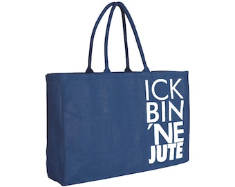 "Jute bag ""Ick bin ne Jute"" // Color: mint / black"