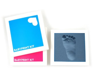 BABYPRINT Imprint Set 2 pcs. made of orthopaedic stepping foam for making footprints of babies and toddlers