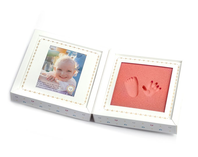 Pictureframe - Baby's 1st Step - babyfootprint kit