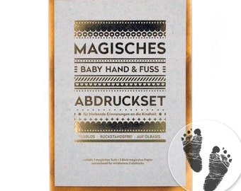 "MAGIC Baby Hand and Footprint Set - ""Large"" (140 x 210 mm) - No Ink, No Plaster!"