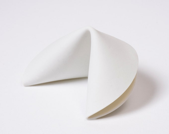 Porcelain Fortune Cookie · Single Cookie · Shards Bring happiness! Hand-folded from 100% porcelain