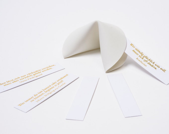 CHINA Porcellain FORTUNE COOKIE · handfolded from finest porcellain · Award winning Design
