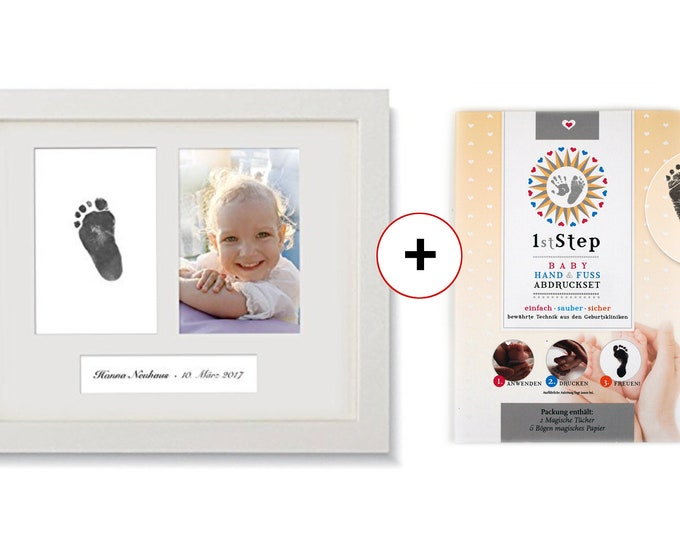 BABY PICTURES FRAME + Magical Baby Imprint Set