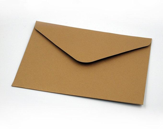 10 pcs. golden BRIEFKUVERTS, envelope, 400g cardboard, solid & high quality