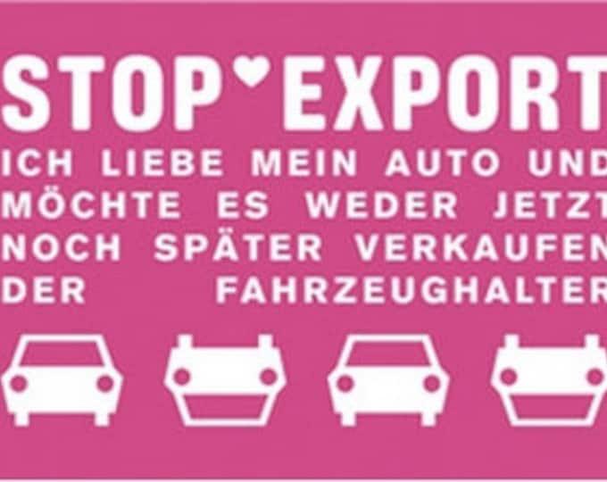 Stop Export-bumper sticker