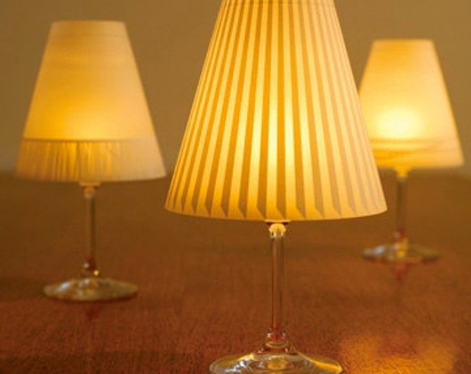 Gorgeous Helen · 3 Enchanting Lampshades for Wineglasses