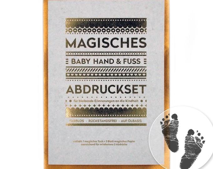 "MAGIC Baby Hand and Footprint Set - ""Large"" (140 x 210 mm) - No Ink, No Plaster!"