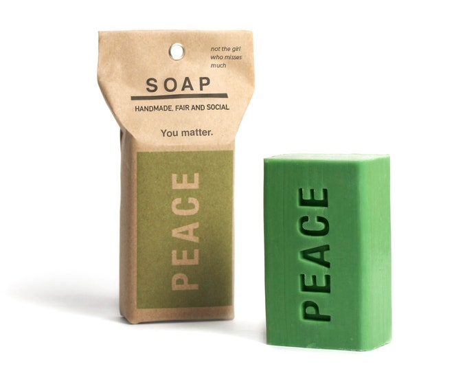 """vegan palmoil free natural soap """"LOVE"""". is all you need."""