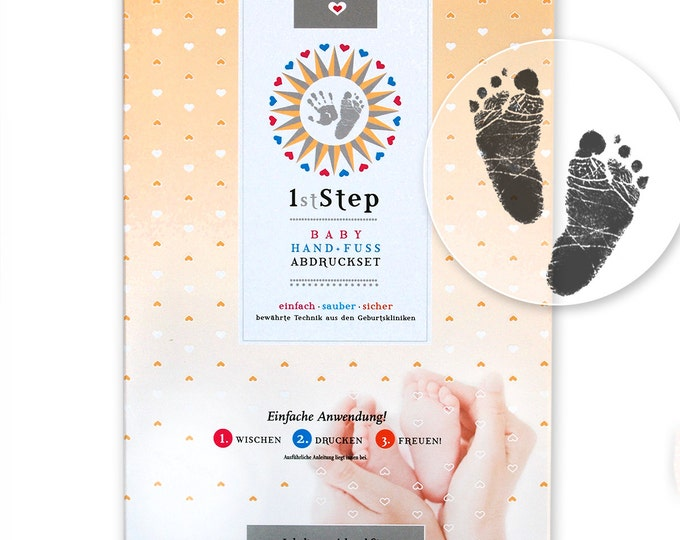 """Babyprint Set - Hand and Footprint Set - """"magic ink!"""" by Baby's 1st Step GREAT PACK"""