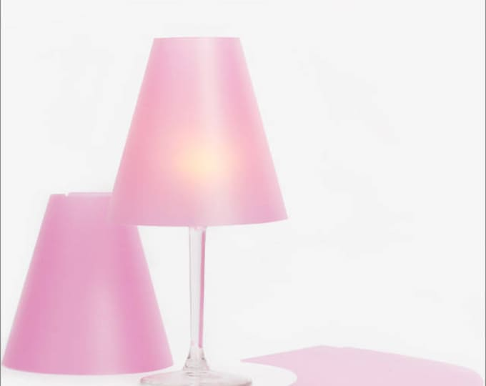 THE ZARTE HELENE - 3 wine glass lampshades made of transparent paper