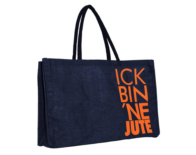 "Carrying bag ""Ick bin ne Jute"" made of 100% jute"