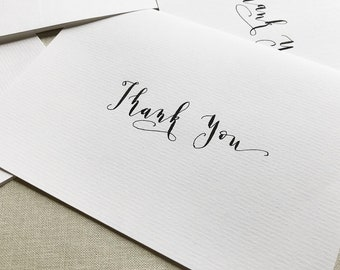 Set of 4 Thank You Notecards