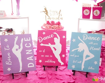 Dance Quotes Party Signs - Instant Download
