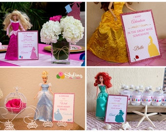 Disney Princess Inspired Quote Signs - Instant Download