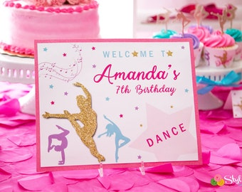 Dance Party Personalized Printable Sign