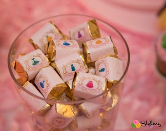Disney Princess Inspired Candy wrapper - Instant Download