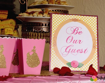 Be Our Guest SIGN- Instant Download