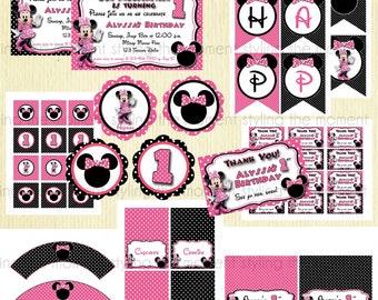 Minnie Mouse Birthday Printable Set