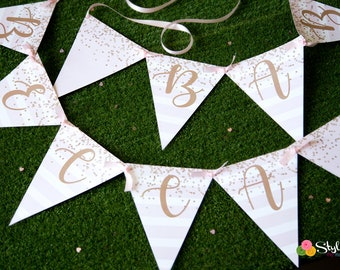 Pink and Gold Baby Sprinkle Banner