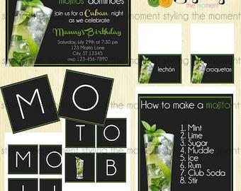 Cuban Mojito Party Printable Set