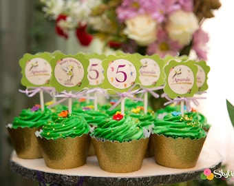 Tinkerbell Inspired Cupcake Toppers