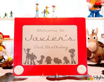 Toy story inspired sign