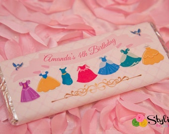Disney Princess Dress Inspired Candy Wrappers