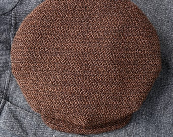 """THE BROADWAY - 1910s-Inspired 11.5"""" Diameter Flat Cap in Heavy Vintage Nubbly Wool - Made to Order"""